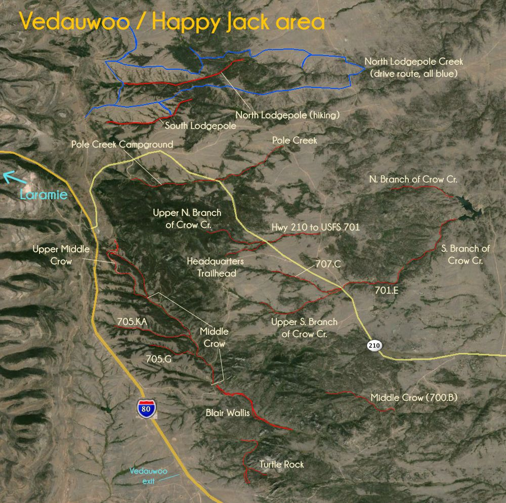 Map: Vedauwoo / Happy Jack area